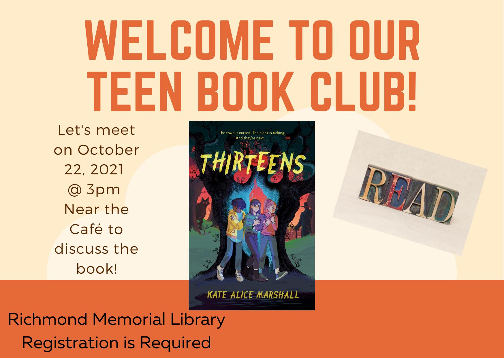 Teens October Book Club - Thirteens by Kate Alice Marshall